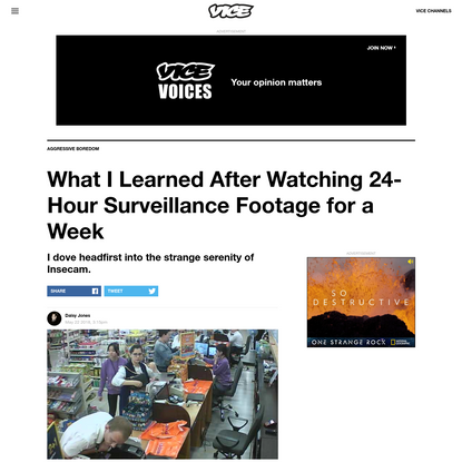 What I Learned After Watching 24-Hour Surveillance Footage for a Week