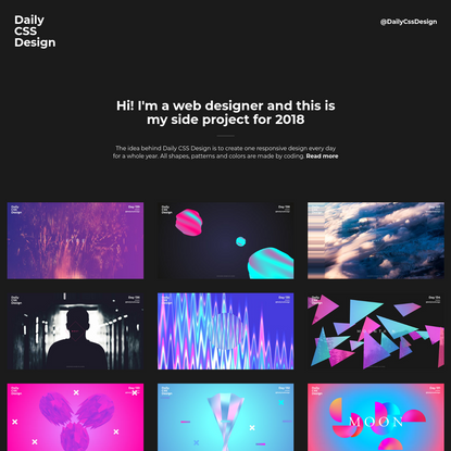Daily CSS Design