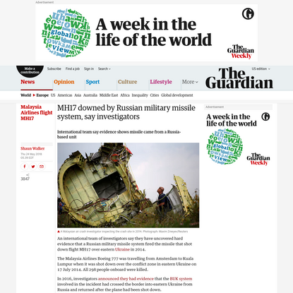 MH17 downed by Russian military missile system, say investigators
