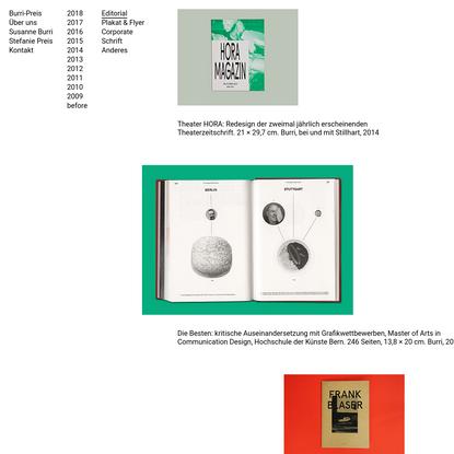 Burri-Preis graphic design - Works
