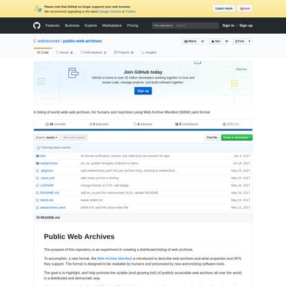 webrecorder/public-web-archives