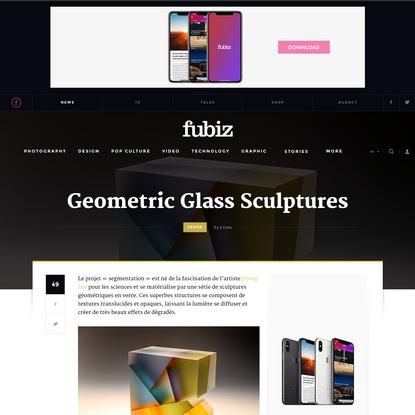 Geometric Glass Sculptures
