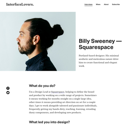Interview: Billy Sweeney - Squarespace