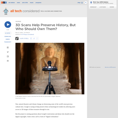 3D Scans Help Preserve History, But Who Should Own Them?