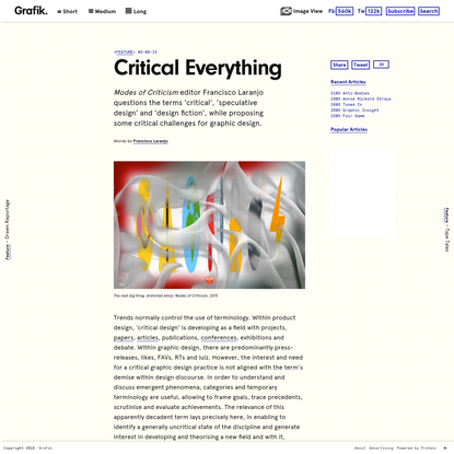Critical Everything