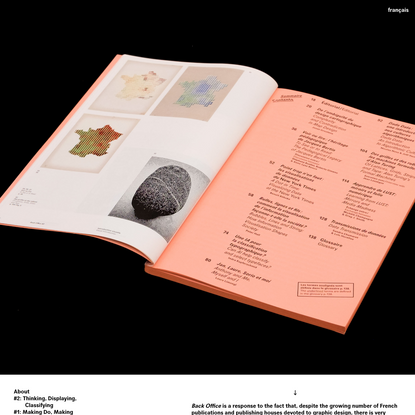 Back Office   An annual research journal encompassing graphic design and digital activities