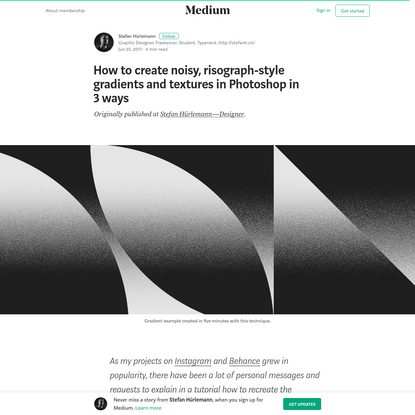 How to create noisy, risograph-style gradients and textures in Photoshop in 3 ways
