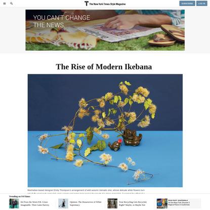The Rise of Modern Ikebana