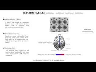 Pattern and brain interaction