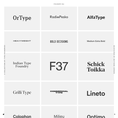 foundry.nu ~ a collection of type foundries