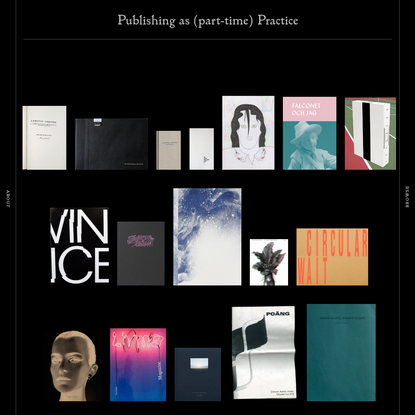 PA(P)P · Publishing as (part-time) Practice