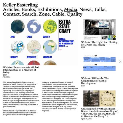 Keller Easterling - Website: Extrastatecraft: Global Infrastructure as a Medium of Polity