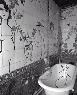 Saul Steinberg, Bathroom, 1955
