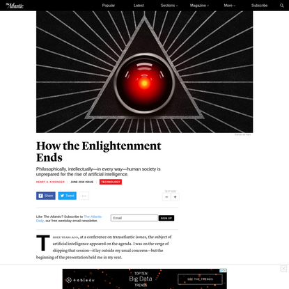 How the Enlightenment Ends