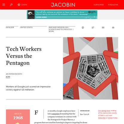 Tech Workers Versus the Pentagon