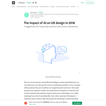 The impact of AI on UX design in 2018 - UX Planet