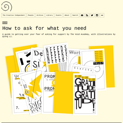 Guide: How to ask for what you need