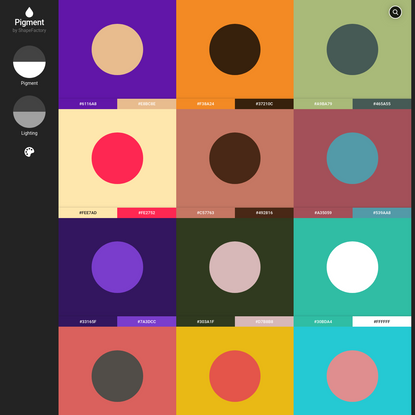 Pigment by ShapeFactory | Simple Color Palette Generator
