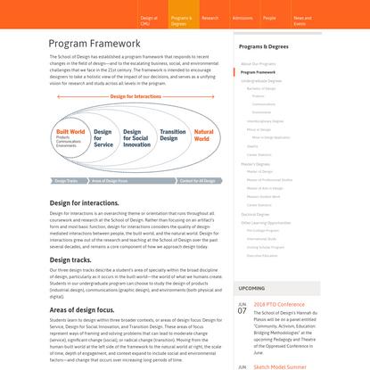Program Framework | Carnegie Mellon School of Design