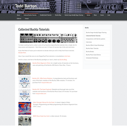 Collected Buchla Tutorials | Todd Barton