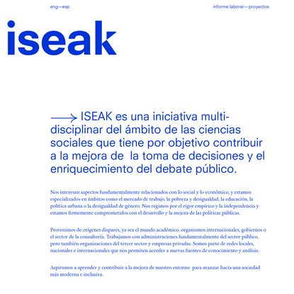 iseak-initiative for socio-economic analysis and knowledge