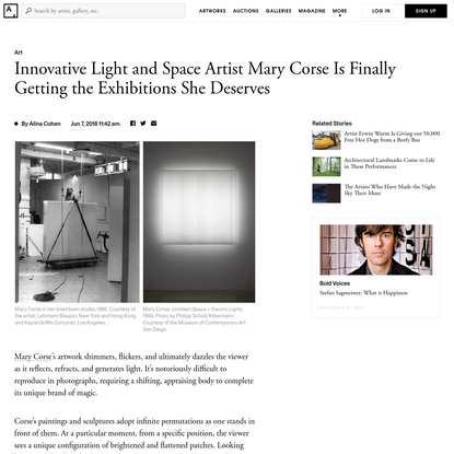 Mary Corse's Experiments with Light and Science Dazzle at the Whitney