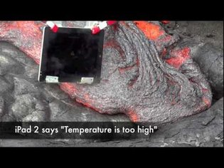 iPad 2 in HOT LAVA - By ZooGue