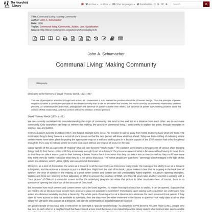 Communal Living: Making Community