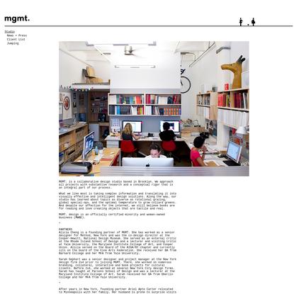 mgmt. design / studio