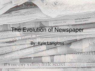 Evolution of Newspaper