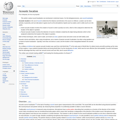 Acoustic location - Wikipedia