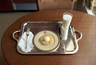 Nixon's milk, cottage cheese and pineapple