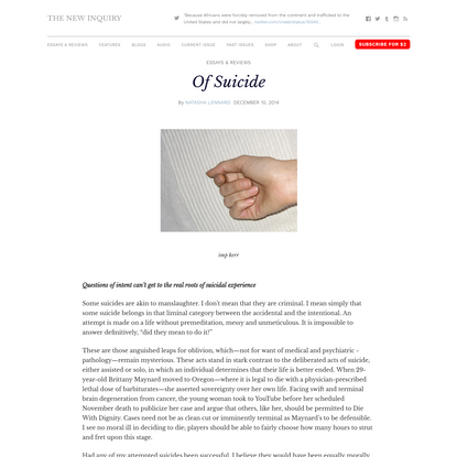 Of Suicide