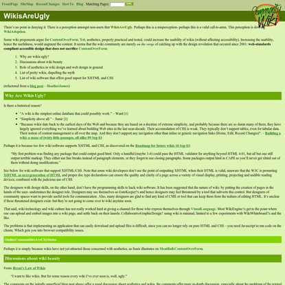 CommunityWiki: Wikis Are Ugly