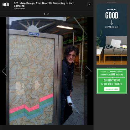 DIY Urban Design, from Guerrilla Gardening to Yarn Bombing