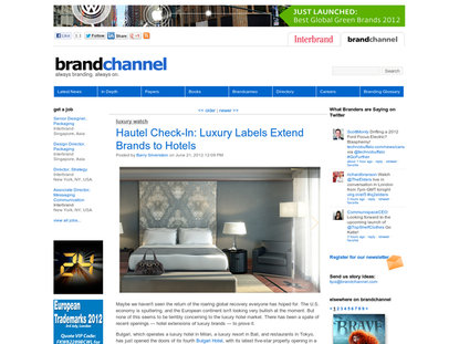 Hautel Check-In: Luxury Labels Extend Brands to Hotels