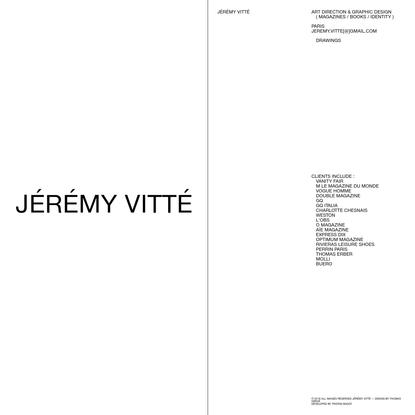 Jérémy Vitté | About