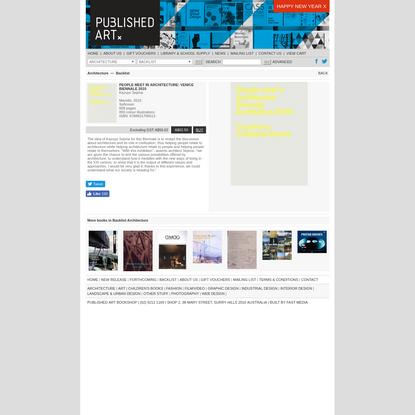 Published Art Bookshop - People Meet In Architecture: Venice Biennale 2010 - Architecture