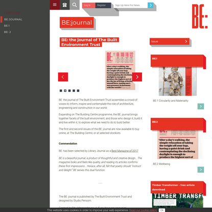 BE: The journal of The Built Environment Trust