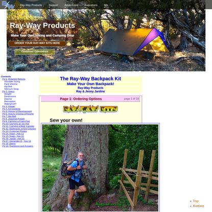 The Ray-Way Backpack Kit by Ray & Jenny Jardine
