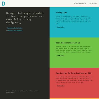 Design Challenges & Design Challenge Ideas * Design Challenge