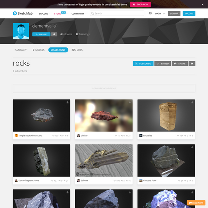 rocks - a 3D model collection by clementvalla1