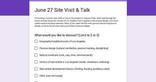 June 27 Site Visit & Talk