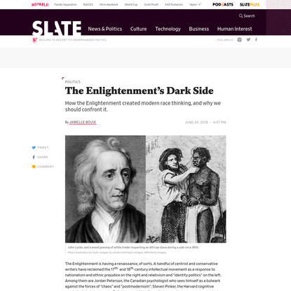 How the Enlightenment Created Modern Race Thinking and Why We Should Confront It