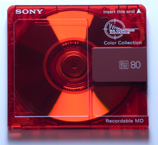 Sony Recordable MD (Color Collection, Red)