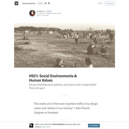 HSC1: Social Environments & Human Values - Human Systems - Medium