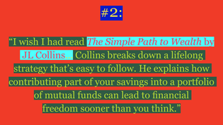"""Thing #2 from Ally-Jane Grossan's """"Five Financial Things I Wish I'd Done at Age 21"""""""