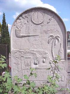 Marcel Broodthaers Tombstone