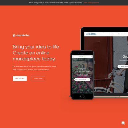 Create an online marketplace | Sharetribe