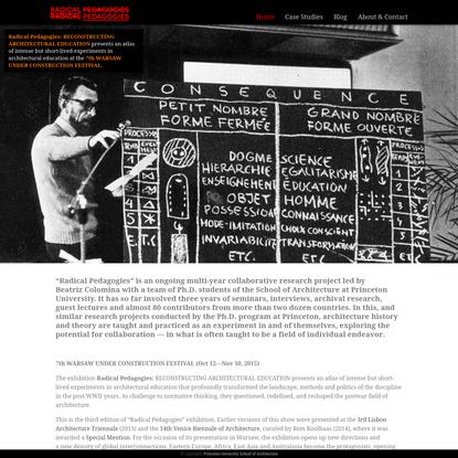 Radical Pedagogies